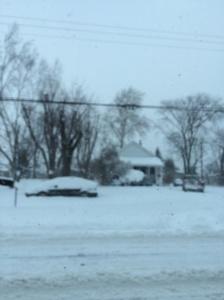 Tudo coberto de neve