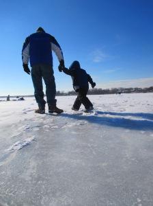 Já pensou em andar sobre um lago congelado?