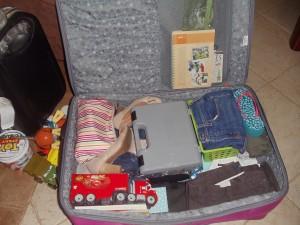 Uma das seis malas