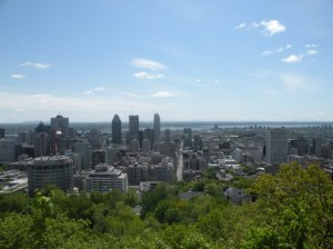 Vista da cidade de Montreal do Mont Royal