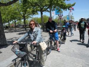 Bikes- ótima opção para passear pela região do Porto de Montreal.