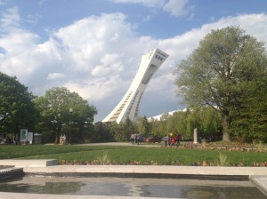 Vista do parque olimpico de Montreal